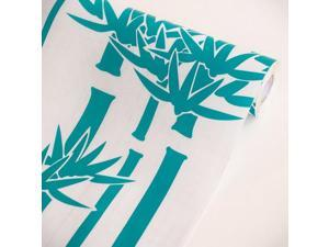 Blancho Bedding AIH-C1046-Roll Green Bamboo Self Adhesive Printed Window Film Home Decor Roll