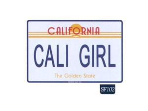 Seaweed Surf Co SF102 12X18 Aluminum Sign Cali Girl