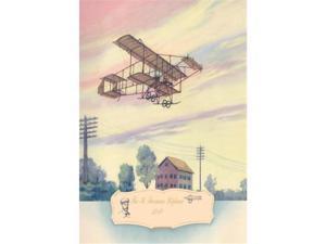 The H. Farman Plane 1910 12x18 Giclee On Canvas