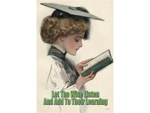 Let the Wise Listen and Add to Their Learning 12x18 Giclee On Canvas
