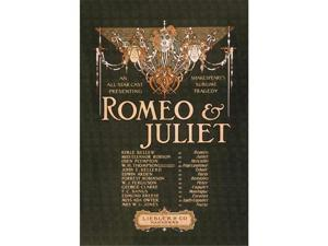 Romeo & Juliet 12x18 Giclee On Canvas