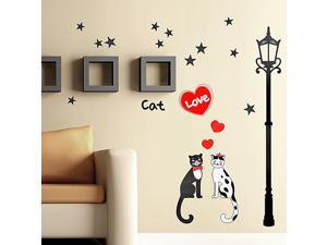Blancho Bedding HL-952 Cat Love - Wall Decals Stickers Appliques Home Decor