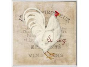 Stupell Industries KWP-928 Le Coq White Rooster Square Wall Plaque