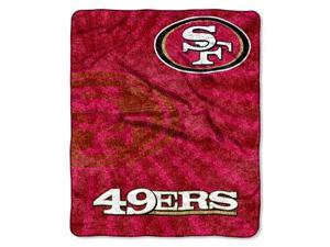 Northwest 1NFL-06501-0013-RET Strobe-49ers NFL Sherpa Throw 50x60