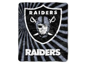 Northwest 1NFL-06501-0019-RET Strobe-Raiders NFL Sherpa Throw 50x60