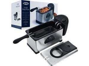 ADG 80-DF30 Chef Buddy  Electric Deep Fryer Stainless Steel - 3.20 Quart