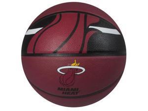 Spalding 73071E NBA Courtside Team Basketball - Miami Heat