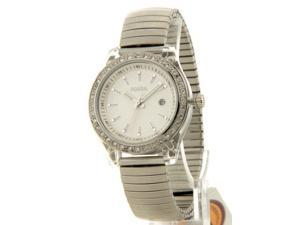 Fossil ES2906 Womens Mini Stella Expansion Crystal Bezel Stainless Steel Date Watch