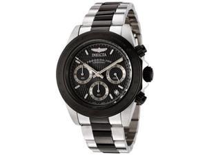 Invicta 6934 Men Speedway Chronograph Black Textured Dial Two Tone