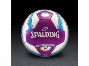 Spalding 64834E Rookie Gear Soccer Ball - Pink-Purple - Size 3