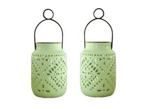 Smart Solar 3901MRM2 Tangier Solar Ceramic Lantern - 2 pack
