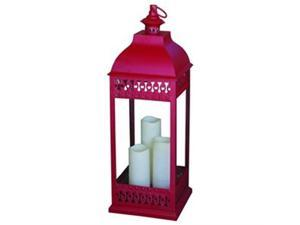 Smart Solar 80070 San Nicola Triple LED Candle Lantern - Red