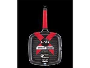 Fundix F2-IG27 10.5 in. x 10.5 in. Grill Pan with Removable Handle - Red