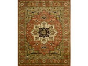 Nourison 34293 Jaipur Area Rug Collection Brick 9 ft 6 in. x 13 ft 6 in. Rectangle