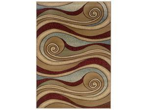 LR Resources LR80241-BWBL58 Adana Brown-Blue Rectangle 5 ft.3 in. x 7 ft.5 in. Rug