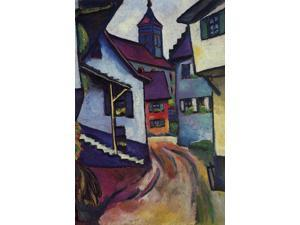 Buy Enlarge 0-587-25348-7C12X18 Street with a church in Kinder - Canvas Size C12X18