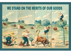 Buy Enlarge 0-587-07471-xC12X18 We Stand on the Merits of Our Goods- Canvas Size C12X18