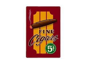 Past Time Signs RPC065 Cigars Metal Sign