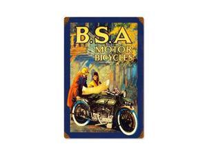 Past Time Signs PTS295 Bsa Motorcycles Motorcycle Vintage Metal Sign