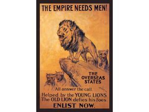 Buy Enlarge 0-587-01191-2C12X18 Empire Needs Men- Canvas Size C12X18