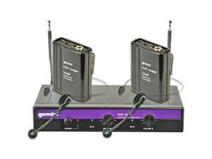 Gemini Dj Vhf Dual Wireless Headset/Lavalier Microphone System - Frequencies: 2+6