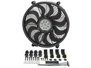DERALE 16217 17 In. High Output Single Rad Pusher & Puller Fan With Premium Mount Kit