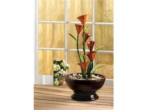 Zingz & Thingz 57071091 Calla Lily Indoor Tabletop Water Fountain with Submersible Pump