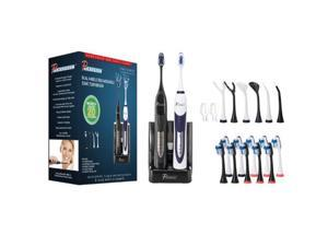 PURSONIC S522BW Dual Handle Ultra High Powered Sonic Electric Toothbrush  Black & White