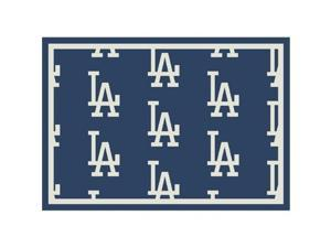 Milliken 4000019548 2 ft. 1 in. x 7 ft. 8 in. Los Angeles Dodgers MLB Team Repeat Area Rug - Runner, Blue