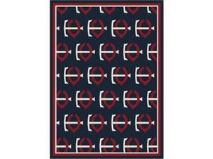 Milliken 4000019624 5 ft. 4 in. x 7 ft. 8 in. MLB Team Repeat Minnesota Twins Baseball Area Rug - Rectangle
