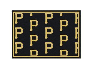 Milliken 4000019552 2 ft. 8 in. x 3 ft. 10 in. MLB Team Repeat Pittsburgh Piratestes Baseball Area Rug - Rectangle, Multi Color