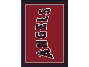 Milliken 4000019533 3 ft. 10 in. x 5 ft. 4 in. MLB Spirit Los Angeles Angels Baseball Area Rug - Rectangle, Multi Color