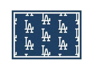 Milliken 4000019608 5 ft. 4 in. x 7 ft. 8 in. MLB Team Repeat Los Angeles Dodgers Baseball Area Rug - Rectangle