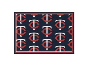 Milliken 4000019564 2 ft. 8 in. x 3 ft. 10 in. MLB Team Repeat Minnesota Twins Baseball Area Rug - Rectangle