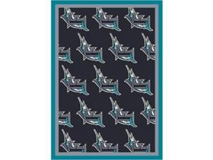 Milliken 4000019546 10 ft. 9 in. x 13 ft. 2 in. MLB Team Repeat Florida Marlins Baseball Area Rug - Rectangle