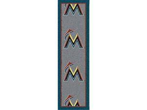 Milliken 4000019636 10 ft. 9 in. x 13 ft. 2 in. MLB Team Repeat Florida Marlins Baseball Area Rug - Rectangle