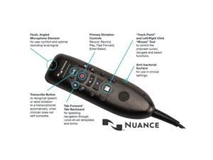 Nuance Communications - 0POWM3N3-E - Nuance PowerMic III Microphone - Mono - 20 Hz to 16 kHz - Wired - 3 ft -
