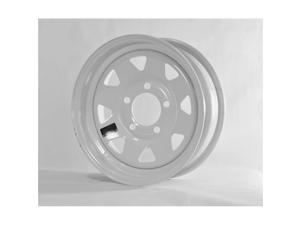 Americana AMW-20421 15 x 5 Spoke Style 5 Lug on 4.5 in., White