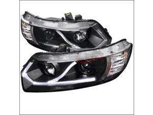 Spec-D Tuning 2LHP-CV062JM-RS LED Projector Headlight for 06 to 09 Honda Civic, Black - 11 x 19 x 25 in.