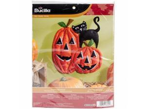 Bucilla 86692 13.5 x 34.29 in. Pumpkins Wall Hanging Felt Applique Kit
