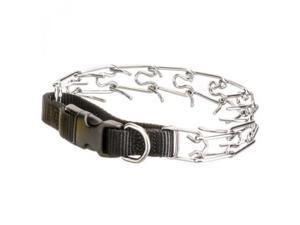 Coastal Pet Products 559214 Titan Easy - On Prong Dog Training Collar With Buckle - Black & Chrome, Neck Size 14 in.