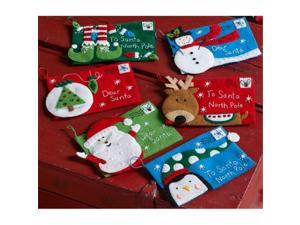 Bucilla 86667 4 x 6 in. Letters To Santa Envelopes Felt Applique Kit, Set of 6