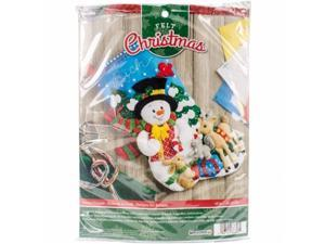 Bucilla 86657 18 in. Forest Friends Stocking Felt Applique Kit