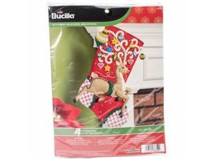 Bucilla 86652 18 in. Ornamental Deer Stocking Felt Applique Kit