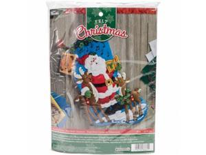 Bucilla 86661 18 in. Caroling Santa Stocking Felt Applique Kit