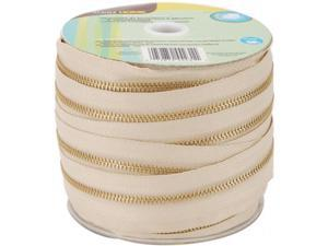Dritz 44231 Brass Upholstery Zipper By-The-Yard 35 Yards-Beige - Case of 35