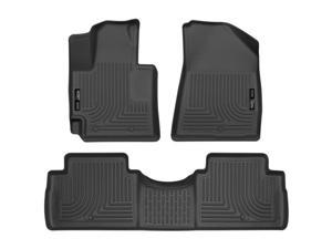 Husky Liner HSL99611 2016-2016 Soul Front & Second Seat Floor Liners Weatherbeater Series, Black
