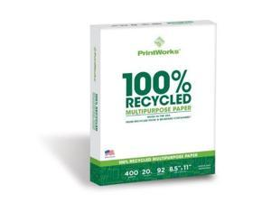 Paris Paper 40011 Printworks 100 Percent Recycled Multipurpose Paper - White