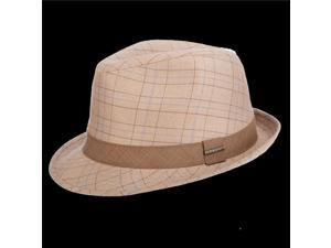 Stetson Classic STC300-TAN2 Plaid Fedora, Medium - Tan