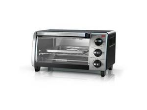 Black & Decker TO1750SB Black Decker 4 Slice Toaster Oven, Black